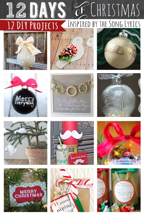 lines across 12 holiday crafts inspired by the 12 days of