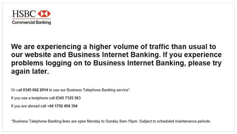 Hsbc Online Banking Outage Shows Its Lack Of Cloud Smarts Scheduled Server Maintenance Email Template