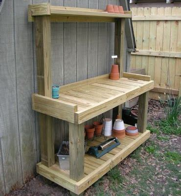 outdoor work bench diy garden potting bench gardening pinterest gardens