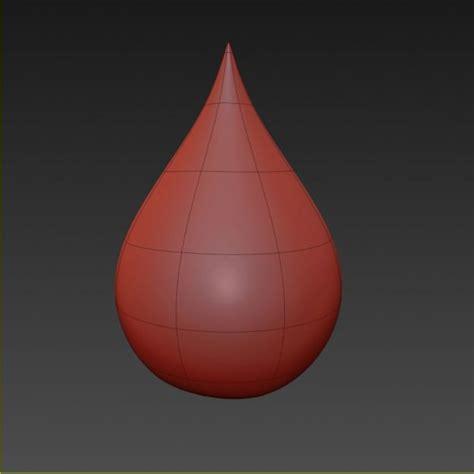 Gantungan Dinding Model Water Droplet water drop 3d model max obj cgtrader