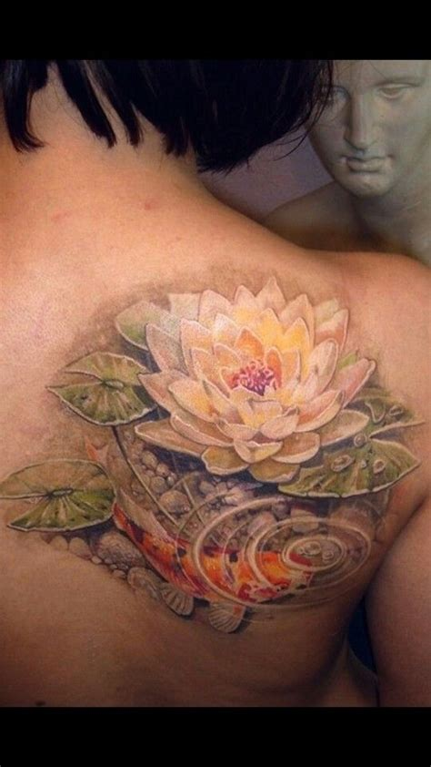 flower garden tattoos koi pond lotus pad zen water garden future