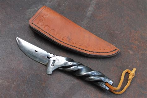 Handmade Forged Knives - forged horseshoe knife number 1 shoe by