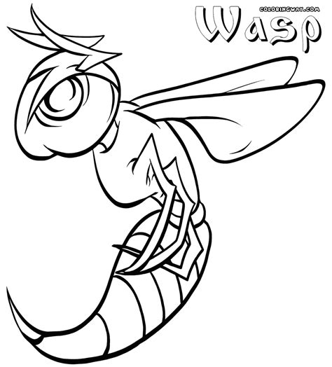 printable coloring pages wasp coloring pages coloring pages to and print