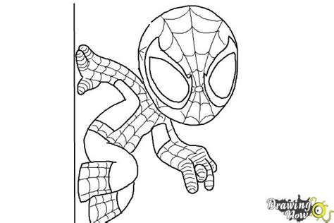 how to draw chibi spiderman drawingnow