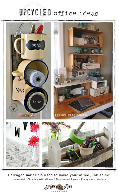 idea plans upcycled office storage ideasfunky junk interiors