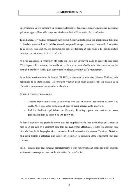 Exemple Lettre Remerciement Implication Quel Est L Impact Des R 233 Seaux Sociaux Sur Le March 233 De L