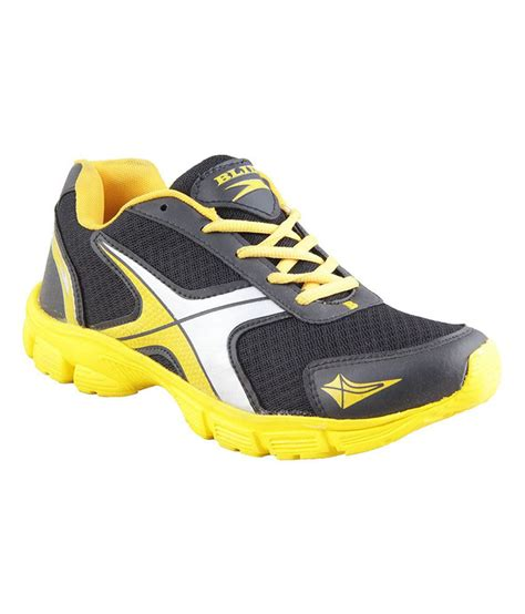 black and yellow running shoes blid black and yellow running sport shoes price in india
