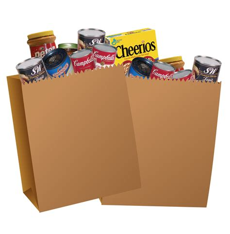grocery bag clipart grocery bags of food clipart