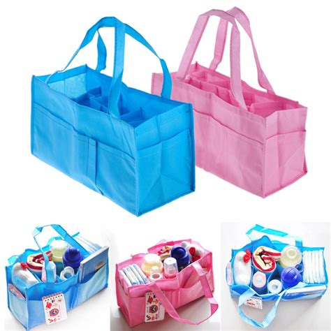 Baby Bag Organizer 2 colors portable baby nappy changing bag inserts handbag organizer pouch storage inner
