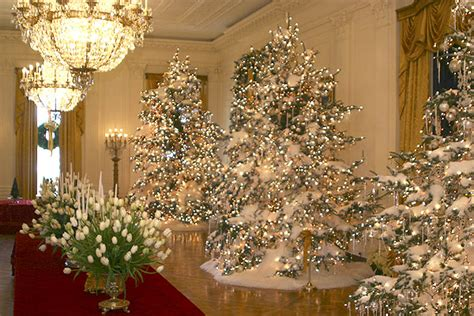 the christmas decorations in the east room of the white