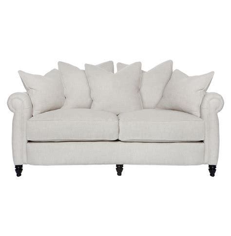 feather sofa cortona classic rolled arm feather down oatmeal condo sofa