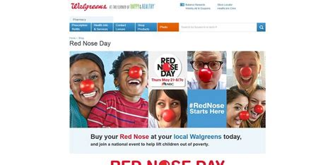 Walgreens Monthly Sweepstakes - walgreens rednose sweepstakes a good laugh for a good cause