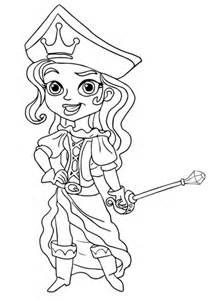 ausmalbild die piratenprinzessin kostenlos