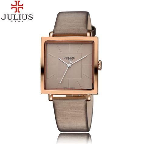 Gucci Square Leather Brown Rosegold White Black Premium zegarek damski julius elegancki 4 kolory