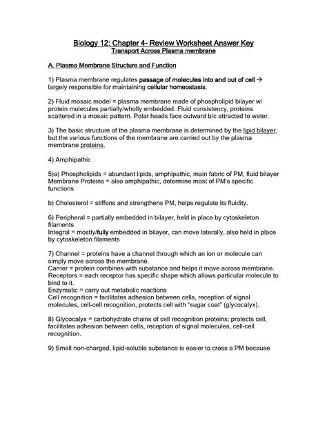 images  cell membrane coloring worksheet answers