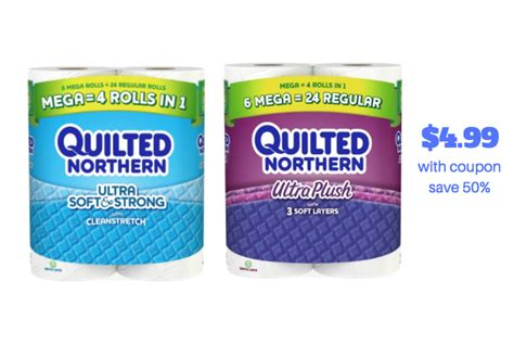 northern bathroom tissue quilted northern mega roll 6 ct only 4 99 at safeway