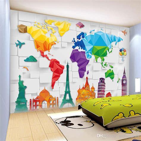 size wall murals custom size 3d wall murals world plate map anime wallpaper