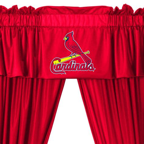 Curtains St Louis Mlb St Louis Cardinals Drapes Set 5pc Curtains Valance Window Treatment