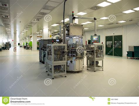 clean room environment injection molding of biomedical products in clean room stock photo image 48273880