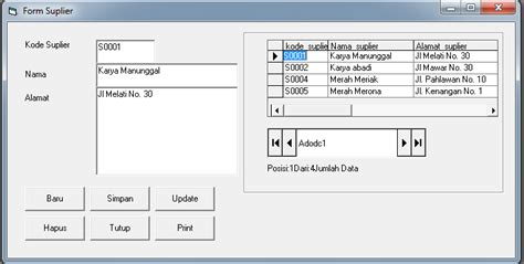cara membuat form vb di excel lilis suryani cara membuat form suplier pada visual basic 6 0