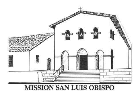 mission san luis obispo de tolosa floor plan free coloring pages of san fernando mission