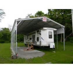 Steel Carport Shelter Rv Shelter With Half Sides Rv Steel Shelters From All