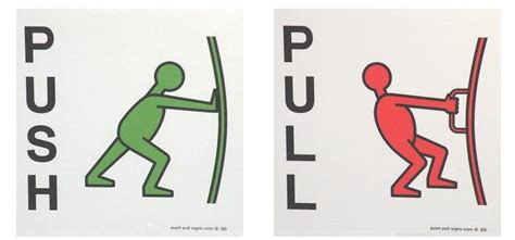 Push And Pull Signs For Glass Doors Push Signs Pull Signs Door Signs Stickers Details