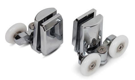 shower door roller a 256 4x kenley stainless top bottom shower door rollers wheel runners set ebay