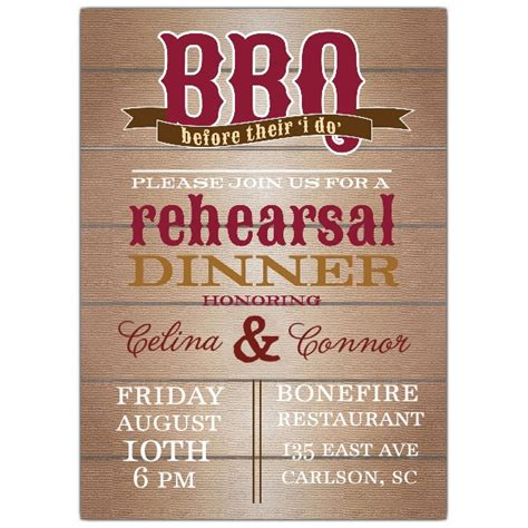 barbecue wedding reception invitation wording bbq rehearsal dinner invitations paperstyle