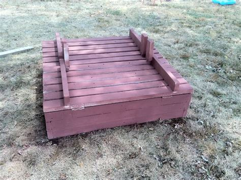 sandbox with bench lid building a large sandbox with bench seat lids