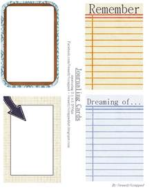 journaling templates free sweetly scrapped printable journaling cards