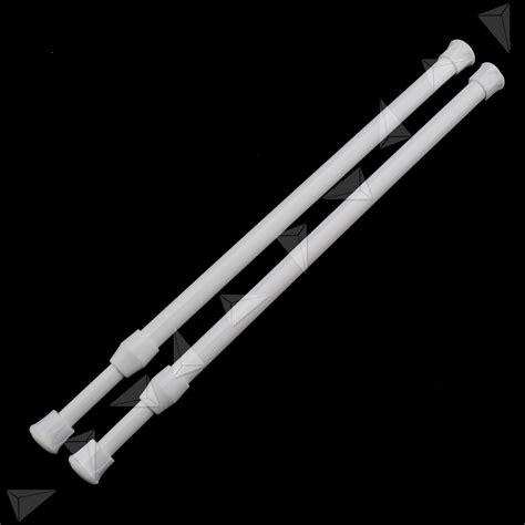 extendable curtain pole no screws 2 pcs telescopic shower curtain rail extendable 30 50cm