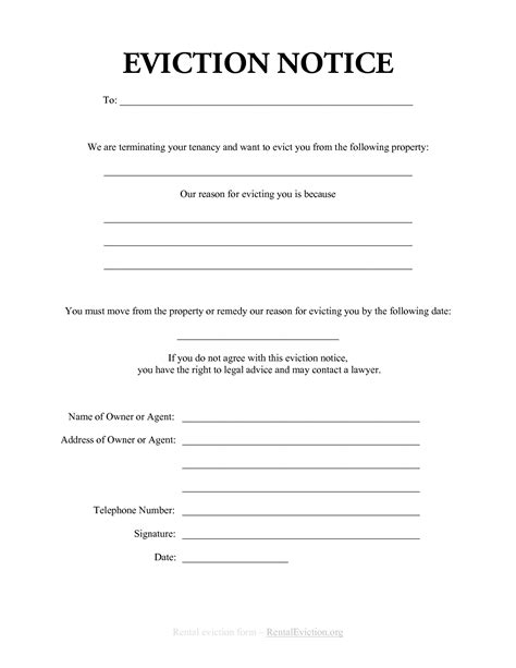 free print out eviction notices free rental eviction