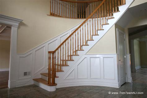 Stair Wainscoting by Wainscot And Picture Frames Traditional Staircase