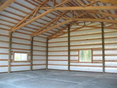 interior   post frame garageshop  stanwood wa built  spane buildings  mount vernon