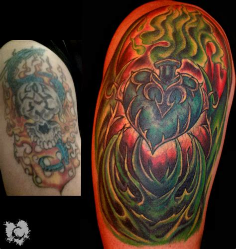 ceejay heart cover up bio mechanical sacred heart heart