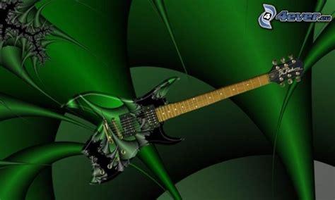 wallpaper green guitar electric guitar