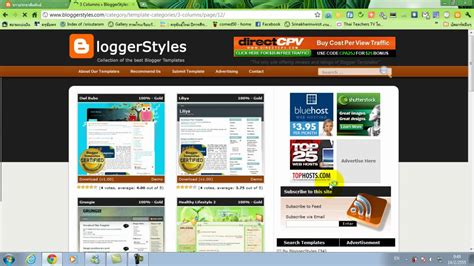 blogger youtube template สอนการออกแบบ template blogger youtube