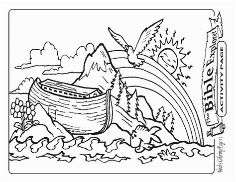 christian rainbow coloring pages noah s ark coloring page 03 projects to try pinterest