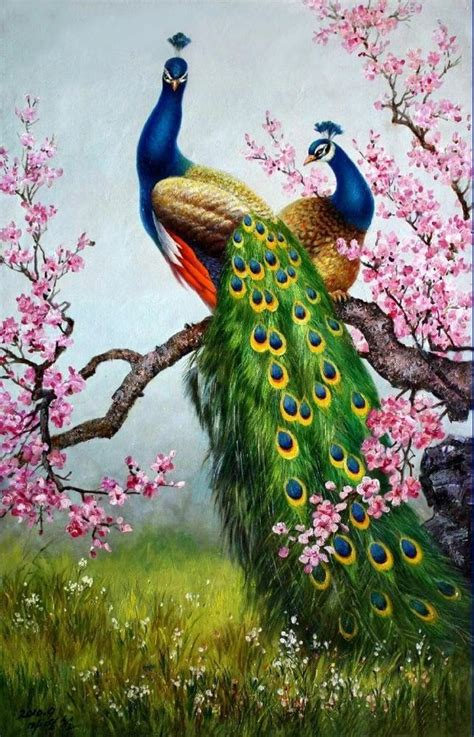 Painting 200x80cm 2 Peacock print animals peacock painting picture printed on canvas 16x24 inch p043 painting