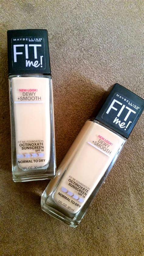 Maybelline Fit Me Dewy And Smooth foundation for normal to skin maybelline fit me dewy