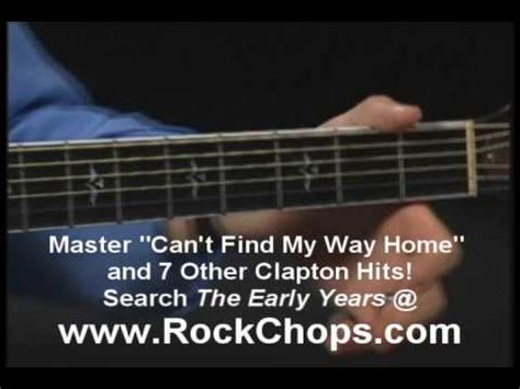 eric clapton tabs can t find my way home guitar