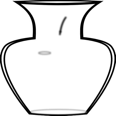 Vase Outline by Vase Outline Clip At Clker Vector Clip