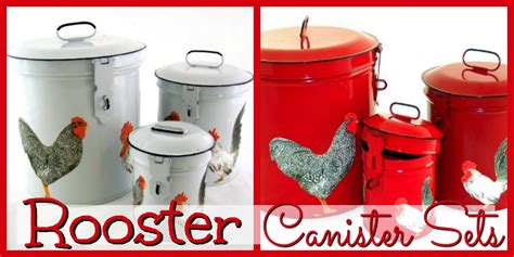 country canisters for kitchen rooster canister sets for sale