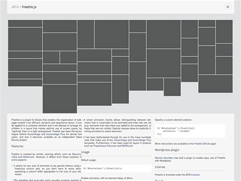 javascript layout tools freetile js best web design tools