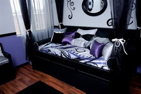 purple and black rooms purple black teen girl room room for joy makeovers