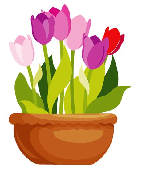 In A by Flower In A Pot Clipart Clipartxtras