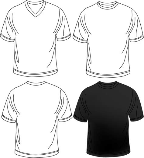 blank men t shirt free vector in adobe illustrator ai