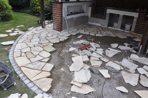 Polygonalplatten Terrasse Verlegen by Der Etwas Unkonventionelle Bau Einer Aussenk 252 Che Seite 6