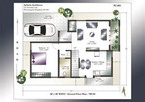 House Floor Plans With Photos by 30 X 40 House Plans 30 X 40 West Facing House Plans